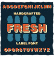 handcrafted cartoon style label typeface vector image