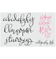 Handwritten pointed pen flourish font