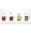 ice cream float drinks recipes vector image
