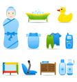 Icon Set Baby Care vector image vector image