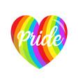 lgbt rainbow heart symbol icon gay pride vector image vector image
