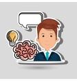 man idea speak vector image