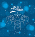 merry christmas related vector image vector image