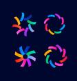 minimal abstract logo design vector image vector image