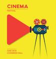 movie cinema poster design vector image vector image
