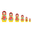 nested russian doll set vector image