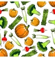 Organic farm vegetables seamless pattern vector image vector image