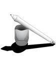 Pen for tablet with touchscreen vector image vector image
