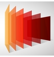 Perspective colorful abstract rectangles on white vector image vector image
