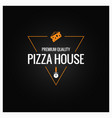 pizza logo design background vector image vector image