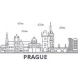 prague architecture line skyline vector image vector image