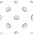 round cloud pattern seamless black vector image vector image