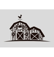 Rural and farm icons vector image