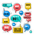 sales speech bubbles collection vector image vector image