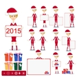Santa Girl with Gifts and poster vector image vector image