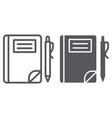 school notebook line and glyph icon paper and vector image vector image
