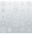 Set of abstract hud elements isolated on gray vector image vector image