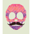 skull made of triangles vector image vector image