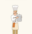 sous chef flat professional vector image