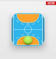 Square icon of handball sport vector image