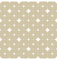 subtle white and gold seamless diamonds pattern vector image