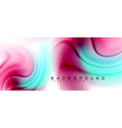 swirl fluid flowing colors motion effect vector image