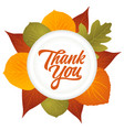 Thank you hand lettering with leaves decoration