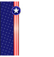 usa flag frame background vector image vector image