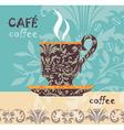 vector coffee vector image vector image
