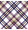 white blue pixel check seamless plaid pattern vector image vector image