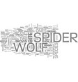 wolf spider text word cloud concept vector image vector image