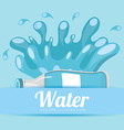 pure water design vector image