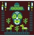 Mexican decorative elements vector image