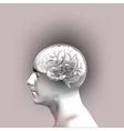 Abstract Human Head with a Brain vector image vector image