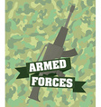 Army design vector image