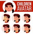 asian girl avatar set kid kindergarten vector image vector image