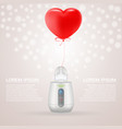 baby bottle warmer and feeding bottle with red vector image