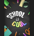 back to school colorful template with vector image