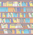 background from bookshelves with books vector image