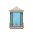 balcony of a modern house on a vector image vector image