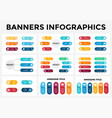 banners infographic templates set stickers vector image vector image