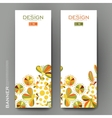 Beautiful banner template with floral vector image