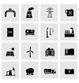 black energetics icons set vector image vector image
