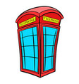 british red phone booth icon cartoon vector image vector image