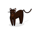 character of burmese cat in kawaii style vector image vector image