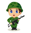 chibi soldier vector image vector image