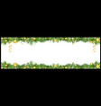 christmas banner with green coniferous twigs vector image vector image