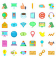 contact info icons set cartoon style vector image vector image