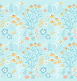 cute spring flower seamless pattern background vector image vector image