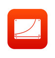 database icon digital red vector image vector image